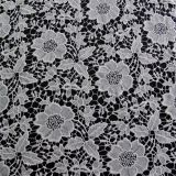 Garment Material Polyester Floral Lace Fabric for Dress (CY-CX0108-1)
