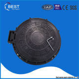 En124 C250 High Quality Ship Used Plastic Sewer Hinged Manhole Cover