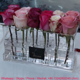 12 Holes Clear Acrylic Flower Box with Customized Logo