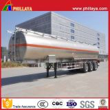 Commercial Vehicle Aluminum Alloy Fuel Oil Tank Tanker Semi Trailer with Steel Material Optional