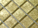 Luxury Golden Foil Crystal Glass Mosaic Wall Tile