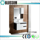 White and Black Wall-Mounted Bathroom Cabinet (BLS-17336)