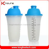 500ml plastic shaker bottle with filter and lanyard (KL-7067)