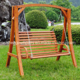 Garden Patio Leisure Hanging Rocking Swing Chair with Wood Fabric