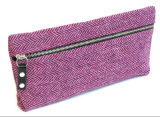 High Beautiful Tweed Pencil Case W/ Zipper