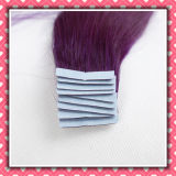High Quality Remy Tape Human Hair Silky12inches Color Purple