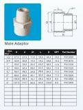 Plastic PVC-U Male Adaptor for Supply Water White Colour ASTM Sch40 2466