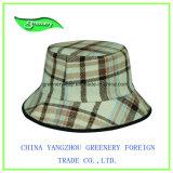 Fashion Checked Cloth New Bucket Sun Finish Hat