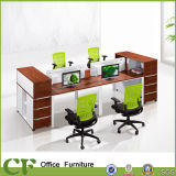 Classic Design Wooden Office 4 Seater Workstation