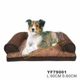Thick Weaving Fabric Pet Bed, Luxury Pet Dog Beds (YF79001)