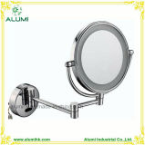 Hotel Wall-Mounted Chrome Finish Double Sided Magnifying Mirror with LED Light