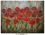 Handmade Fresh Red Flowers Clusters Oil Paintings (LH-700628)