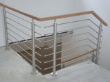 Staircase SUS304/SUS316 Stainless Steel Rod Balustrade with 8mm/12mm Solid Rod Bar System