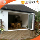Top Quality Thermal Break Aluminium Folding Door, Glass Folding Door for High-End Villa, Double Glazing Glass Door