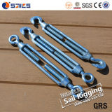 Galvanized Iron Commercial Type Turnbuckle in Rigging