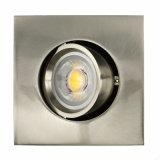 Die Casting Aluminum GU10 MR16 Square Tilt Recessed LED Downight (LT1205)