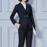 Western Style Formal Office Coat Pant Business Suits for Ladies