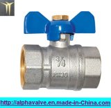 Brass Full Port Valve with Butterfly Handle/Ball Valve (a. 0110)