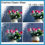 3-5mm Ice Flower Pattern Glass Figure Glass for Decorative