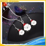 Wholesale Fashion Design Santa Claus Necklace Earring Jewelry Set