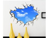 3D DIY Blue Sky PVC Wall Decoration Stickers