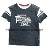 Thick Cotton T-Shirt for Boy with Twill Patch