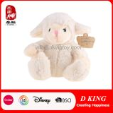 Cream-Colored Plush Sitting Sheep with Soft Material