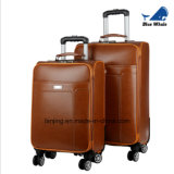 Unique Design Wholesale PU Leather Trolley Luggage for Business