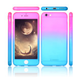 for iPhone 5 6 7 Se Mix Color Mobile Case 360 Degree Full Body Cover PC Hard Slim Tempered Glass Protector Cases for iPhone 7 Plus