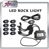 4/6/8/12 Pods LED Rock Light Kit RGB Color Changeable Bluetooth Control Music Flash Offroad LED Rock Light