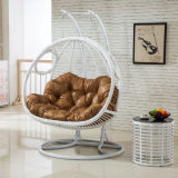2017 New Double Swing Swing, Rattan Furniture, Rattan Basket Garden Furniture (D155A)