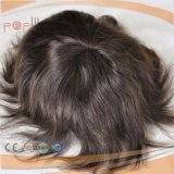 Mono Lace PU Coated Human Hair Men′s Hair System, Toupee