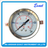 Stainless Steel Pressure Gauge-Oil Manometer-Back U-Clamp Type Pressure Gauge