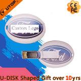 Custom Gift Oval Card USB Flash Drive (YT-3120)