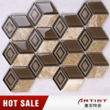 Irregular Shape Colorfull 3D Water Jet Mosaic Tile