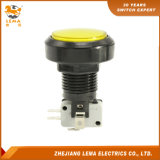 IP40 Protection Degree Yellow LED Plastic 46mm Push Button Switch Pbs-004