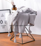 Woven Cotton Throw Bed Blanket Soft Cotton Cozy Blanket