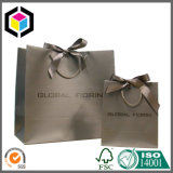 Glossy Color Gift Shopping Paper Bag with Cotton Handle