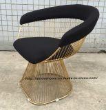 Stainless Steel Leisure Restaurant Cushion Outdoor Wire Chair