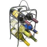 6 Bottle Tabletops Freestanding Metal Storage Display Wine Holder Rack