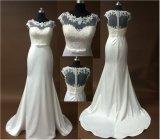Simple Cap Sleeves Lace Mermaid Wedding Dress