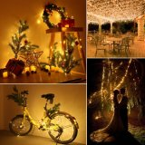 Solar Powered Warm White 12m 100LED Copper Wire LED String Fairy Light Lamp