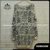 Aztec Ladies Hairy Knitted Long Sweater