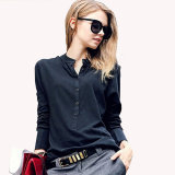 New Office Ol Blouse Long Sleeve Chiffon Shirt Plus Size Ladies Blouses for Women Work Shirt
