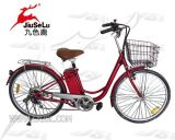 250W Brushless Motor High Speed Red City Electric Bike (JSL008A-3)