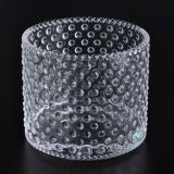 Hobnail 3 Wick Glass Candle Holders