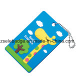 Customized 2D Design Soft PVC Luggage Travel Tag