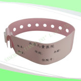 Write-on Hot Selling Soft Hospital Baby Medical ID Wristbands (6020B3)