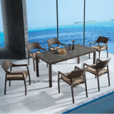 Hot Selling Woven Rattan Outdoor Using Garden Furniture Dining Chair & Table for 8-10person (YTA581&YTD020-4)