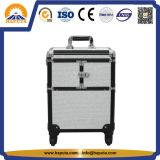 New 2 in 1 Travel Cosmetic Beauty Trolley Case (HB-2055)